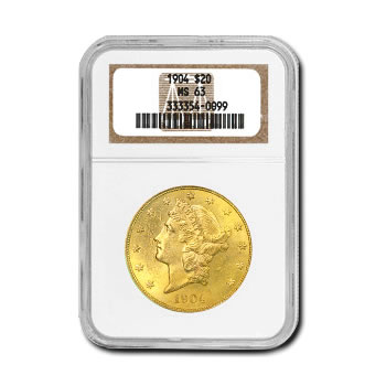 Certified US Gold $20 Liberty MS63 (Dates Our Choice) PCGS or NGC