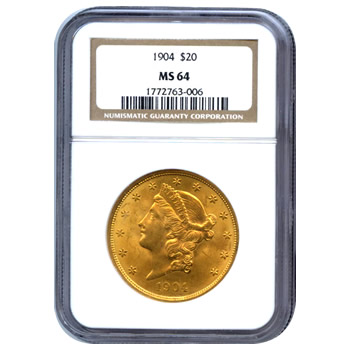 Certified US Gold $20 Liberty MS64 (Dates Our Choice) PCGS or NGC