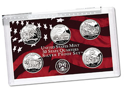 US Proof Set Statehood Silver Quarters Without Box 2007