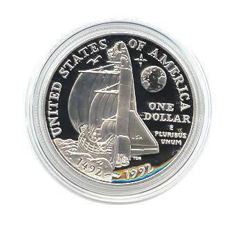 US Commemorative Dollar Proof 1992-P Columbus