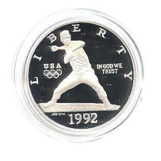 US Commemorative Dollar Proof 1992-S Olympic