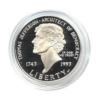 US Commemorative Dollar Proof 1993-S Jefferson