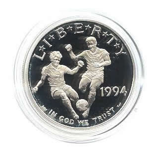 US Commemorative Dollar Proof 1994-S World Cup