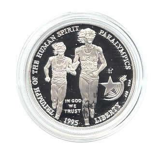 US Commemorative Dollar Proof 1995-P Blind Runner