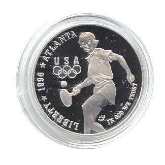US Commemorative Dollar Proof 1996-P Tennis