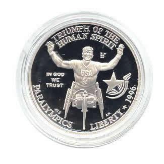 US Commemorative Dollar Proof 1996-P Wheelchair