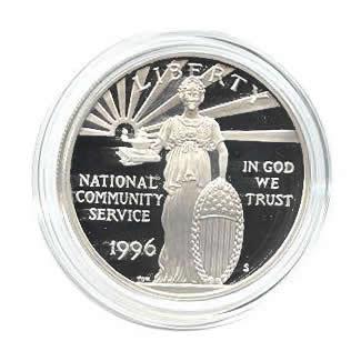 US Commemorative Dollar Proof 1996-S Community Service