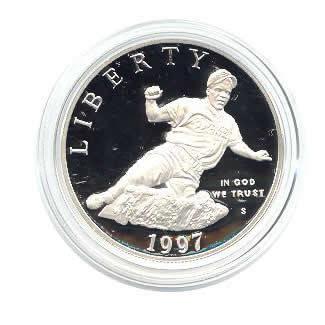 US Commemorative Dollar Proof 1997-S Jackie Robinson