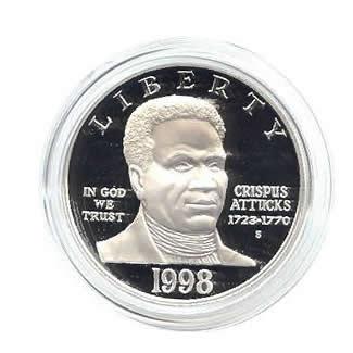US Commemorative Dollar Proof 1998-S Black Patriots