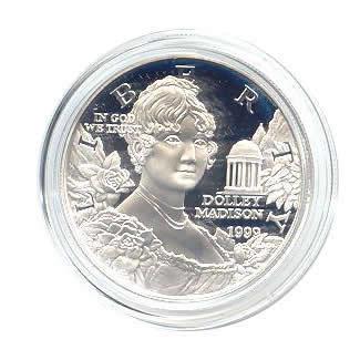 US Commemorative Dollar Proof 1999-P Dolly Madison