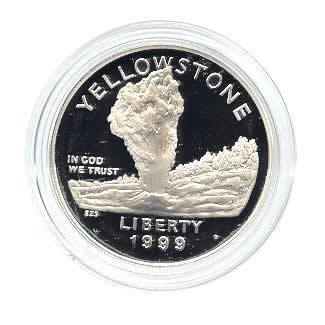 US Commemorative Dollar Proof 1999-P Yellowstone