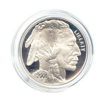 US Commemorative Dollar Proof 2001-P Buffalo