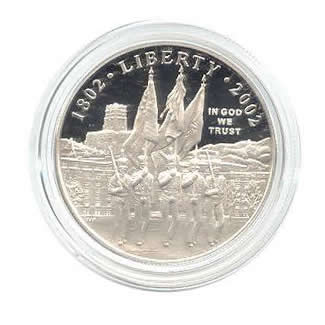 US Commemorative Dollar Proof 2002-P West Point
