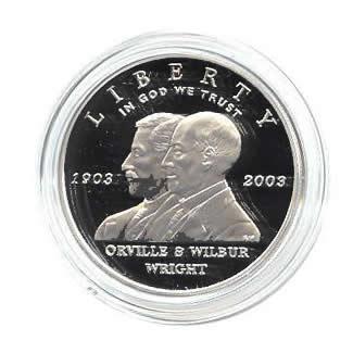 US Commemorative Dollar Proof 2003-P First Flight