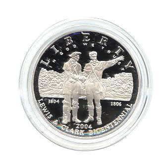 US Commemorative Dollar Proof 2004-P Lewis & Clark