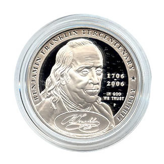 US Commemorative Dollar Proof 2006-P Ben Franklin Founding Fathers