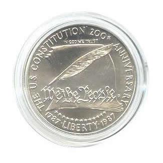 US Commemorative Dollar Uncirculated 1987-P Constitution