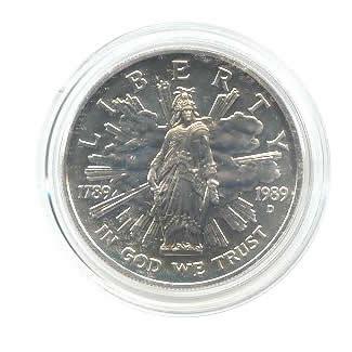 US Commemorative Dollar Uncirculated 1989-D Congressional