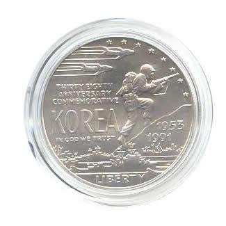 US Commemorative Dollar Uncirculated 1991-D Korean War