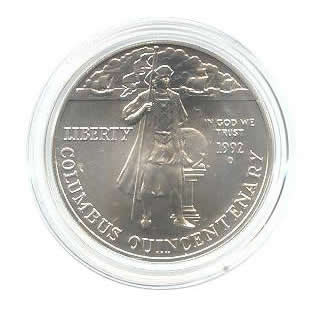 US Commemorative Dollar Uncirculated 1992-D Columbus