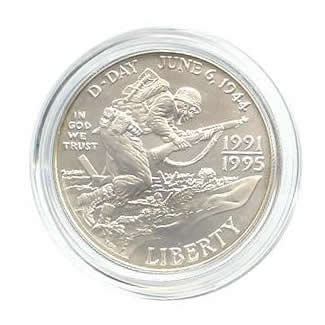 US Commemorative Dollar Uncirculated 1993-D  World War II