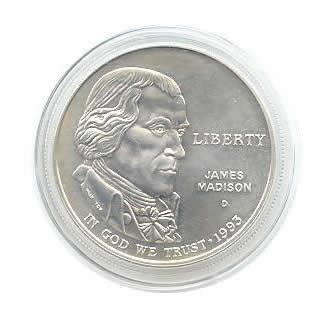 US Commemorative Dollar Uncirculated 1993-D Bill of Rights