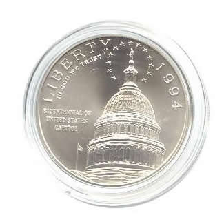 US Commemorative Dollar Uncirculated 1994-D Capital
