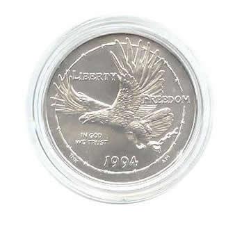 US Commemorative Dollar Uncirculated 1994-W POW