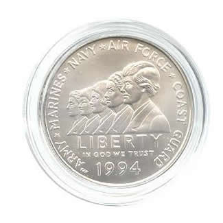 US Commemorative Dollar Uncirculated 1994-W Woman in Service