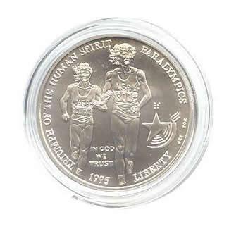 US Commemorative Dollar Uncirculated 1995-D Blind Runner
