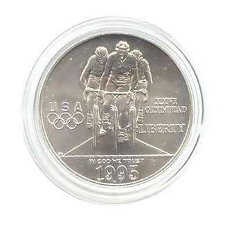 US Commemorative Dollar Uncirculated 1995-D Cycling