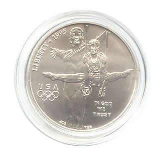 US Commemorative Dollar Uncirculated 1995-D Gymnast