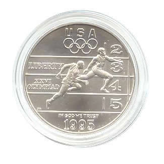 US Commemorative Dollar Uncirculated 1995-D Track and Field