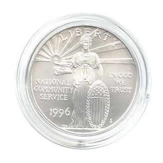 US Commemorative Dollar Uncirculated 1996-S Community Service