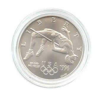 US Commemorative Dollar Uncirculated 1996-D High Jump