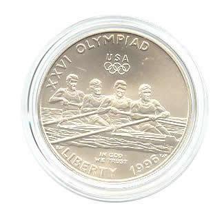 US Commemorative Dollar Uncirculated 1996-D Rowing