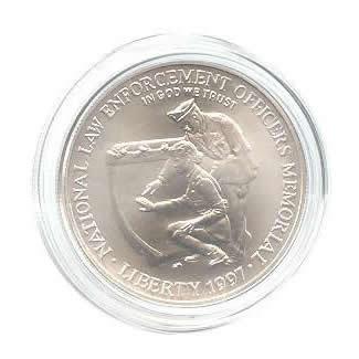 US Commemorative Dollar Uncirculated 1997-P Law Enforcement