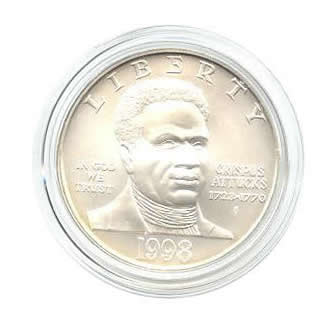 US Commemorative Dollar Uncirculated 1998-S Black Patriots