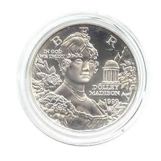 US Commemorative Dollar Uncirculated 1999-P Dolly Madison
