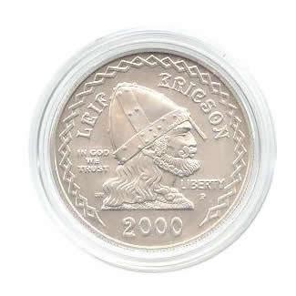US Commemorative Dollar Uncirculated 2000-P Leif Ericson