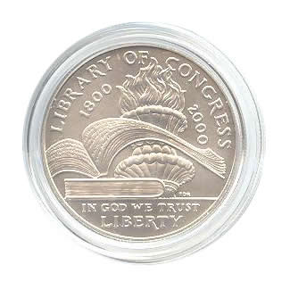 US Commemorative Dollar Uncirculated 2000-P Library of Congress