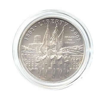 US Commemorative Dollar Uncirculated 2002-W West Point