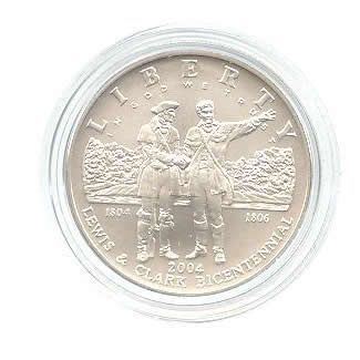 US Commemorative Dollar Uncirculated 2004-P  Lewis & Clark