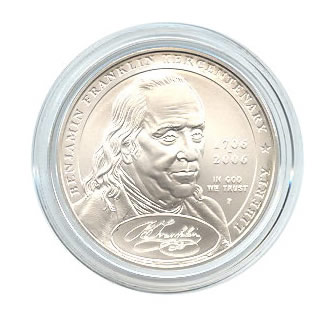 US Commemorative Dollar Uncirculated 2006-P Ben Franklin Founding Fathers