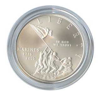 US Commemorative Dollar Uncirculated 2005-P Marine Corps