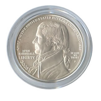 US Commemorative Dollar Uncirculated 2005-P Chief Justice John Marshall