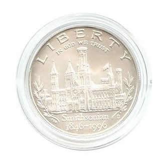 US Commemorative Dollar Uncirculated 1996-D Smithsonian