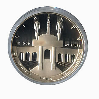 US Commemorative Dollar Proof 1984-S Olympic