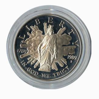 US Commemorative Dollar Proof 1989-S Congressional