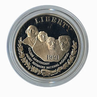 US Commemorative Dollar Proof 1991-S Mt. Rushmore